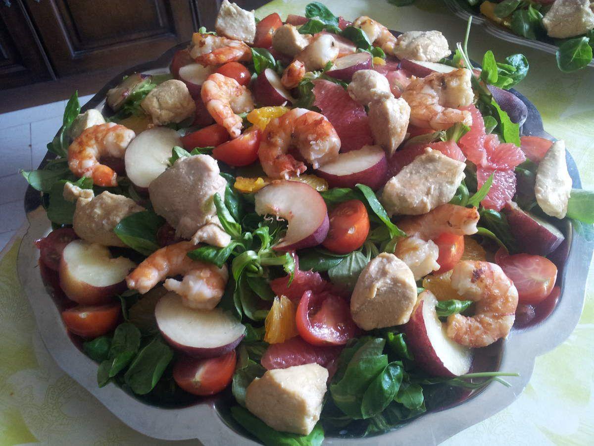 Salade colorée bonne mine !