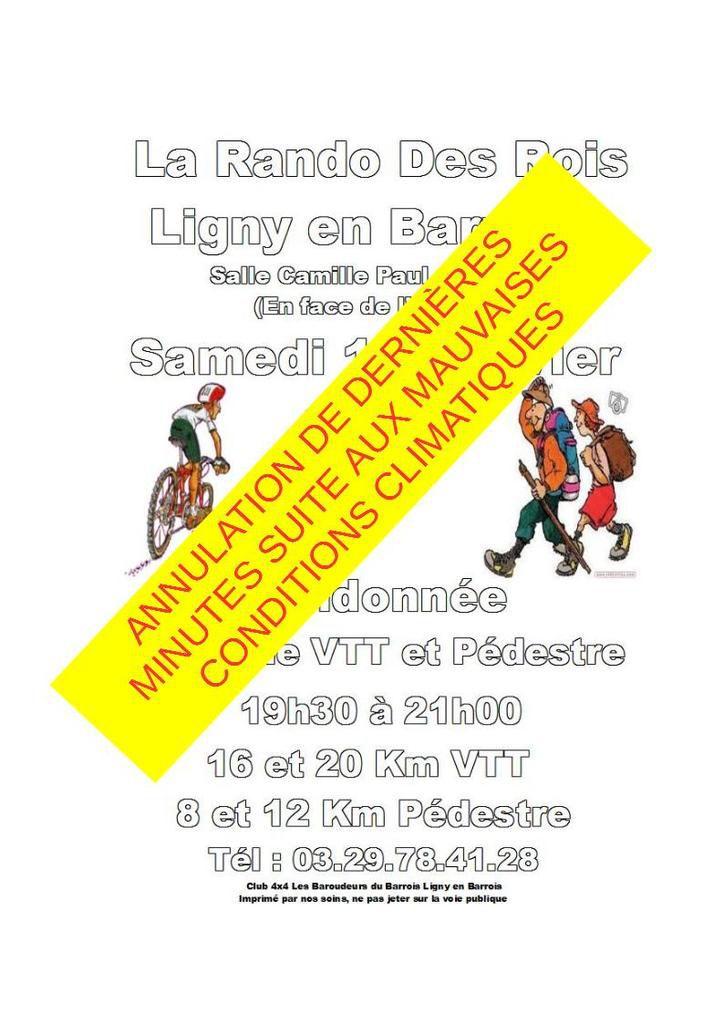 La Rando des Rois 3 (en nocturne VTT et pédestre) 14/01/17