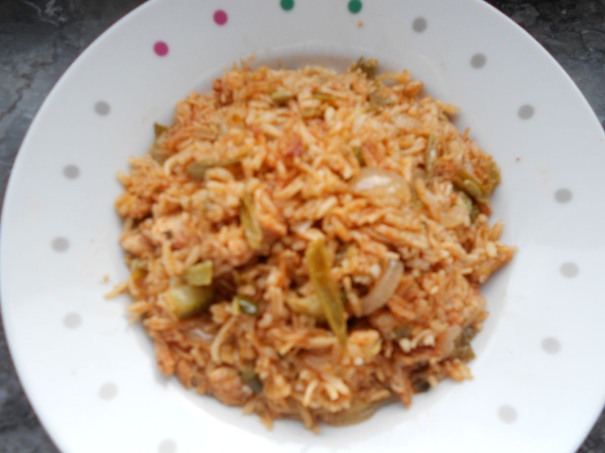 riz vapeur aux légumes