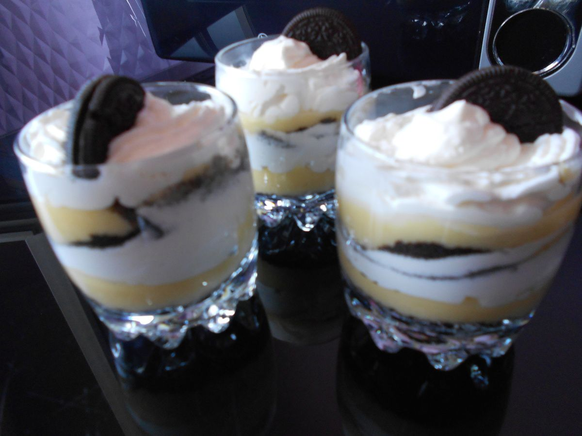 verrine oreo lemon curd chantilly