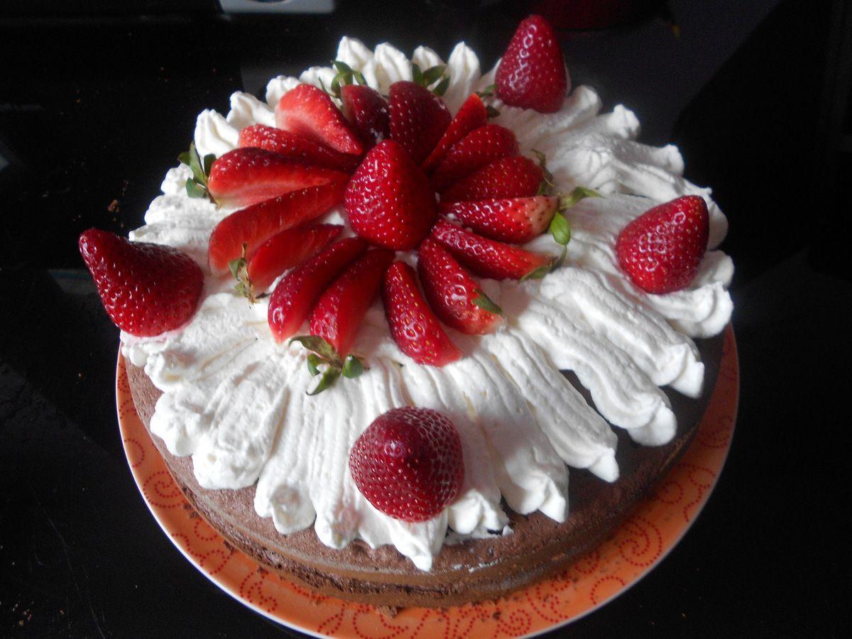 layer cake chocolat fraises