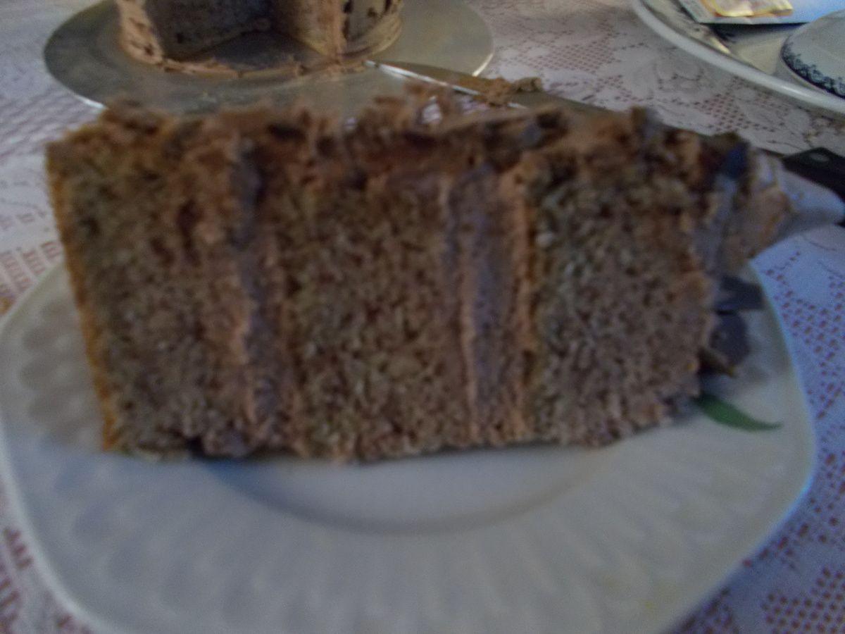 layer cake noisette nutella
