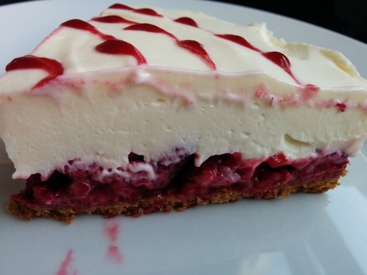 Cheesecake framboises spéculos