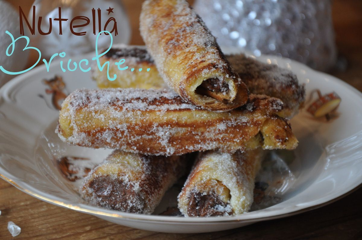 PAIN PERDU ROULE OU FRENCH TOAST ROLL UP au NUT
