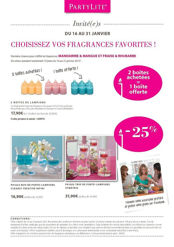 Offre hotesse partylite