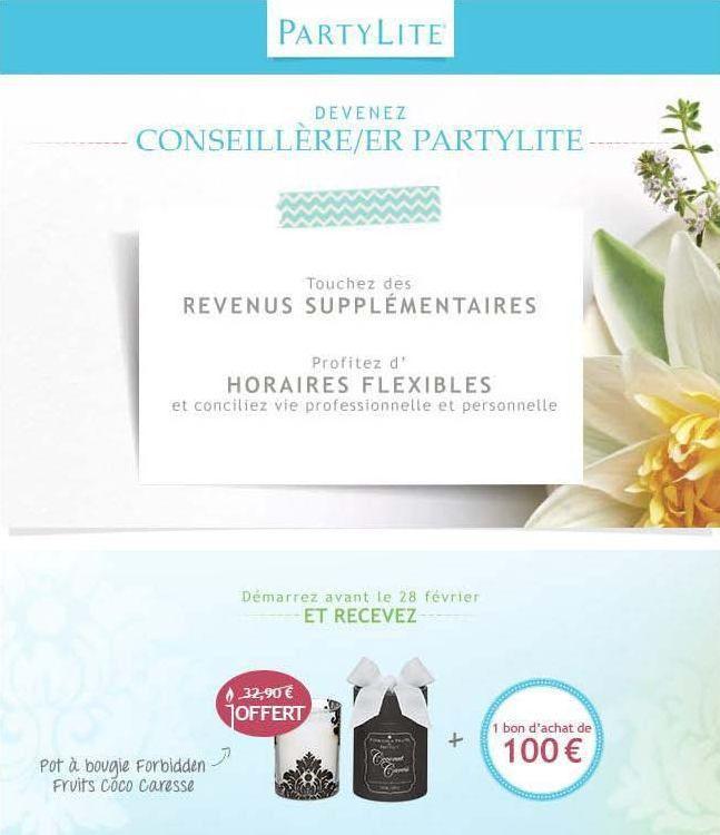Opportunité Emploi PartyLite : Février 2015