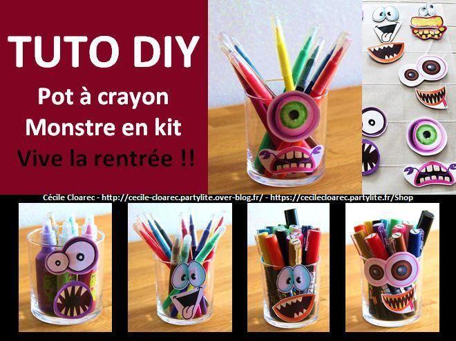 Vidéo YouTube : Tuto DIY Créer votre pot à crayons avec ce kit monstres très gentils