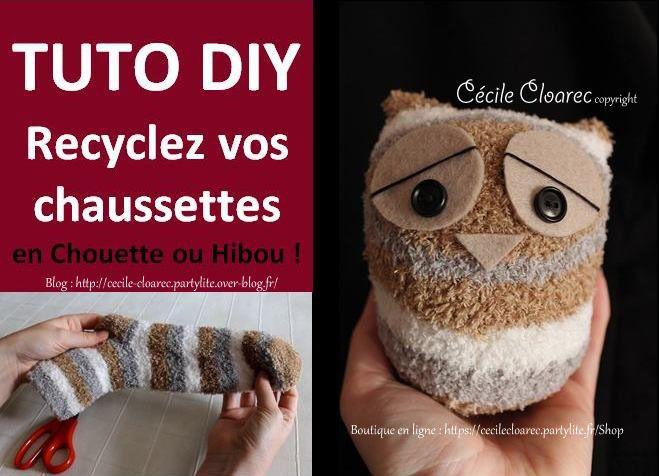 Vidéo YouTube : Tuto DIY Recyclez vos chaussettes en Chouette ou Hibou