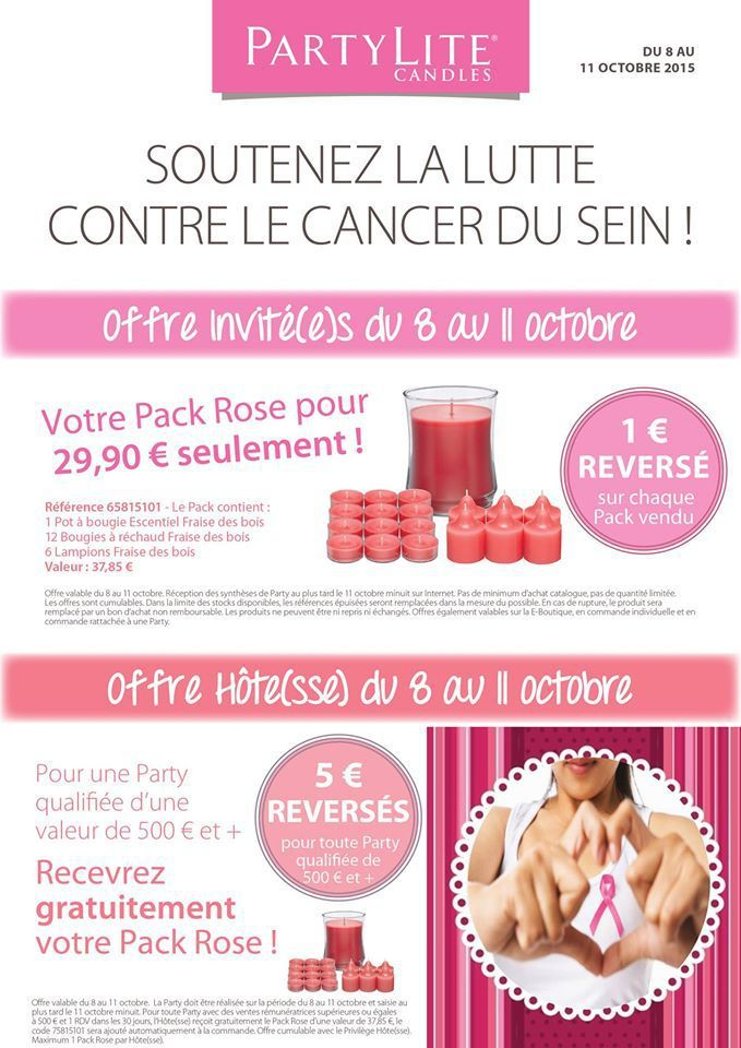 Pack Rose du 8 au 11 oct 2015 : Octobre Rose