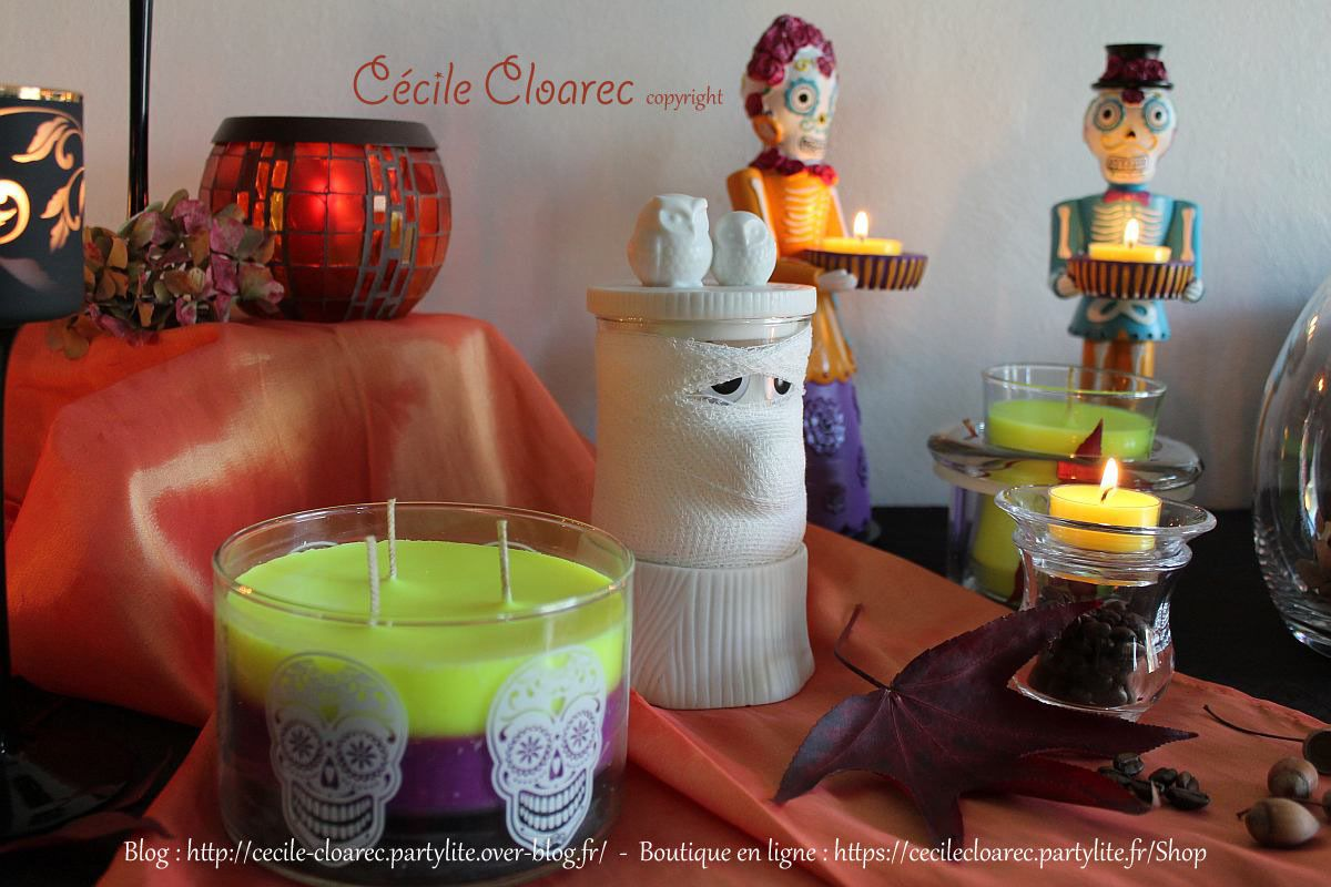 Table d'Automne et Halloween PartyLite : en PHOTOS et VIDEO