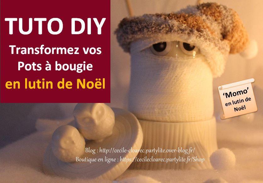 Tuto DIY Transformez votre pot à bougie Momo en lutin de Noël