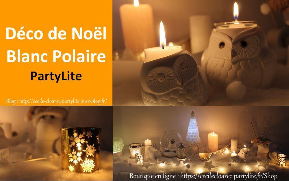 Déco de Noël PartyLite Blanc Polaire