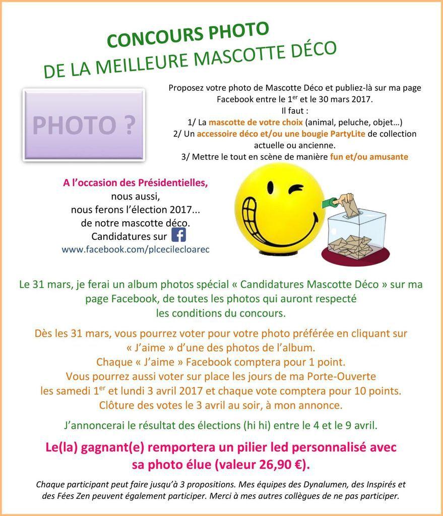 Election Mascotte Déco : Concours photo 01-30 mars 2017