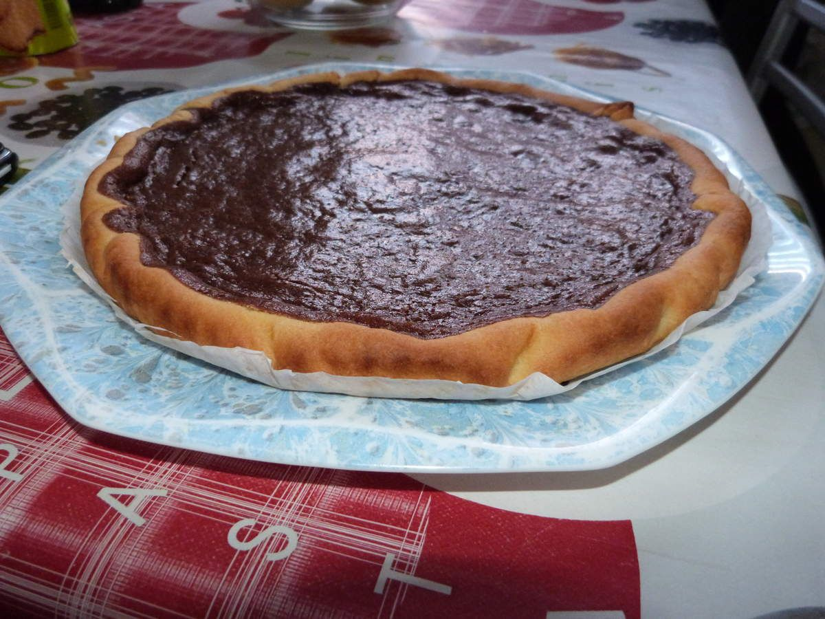Une simple tarte au chocolat mais qui déchire!