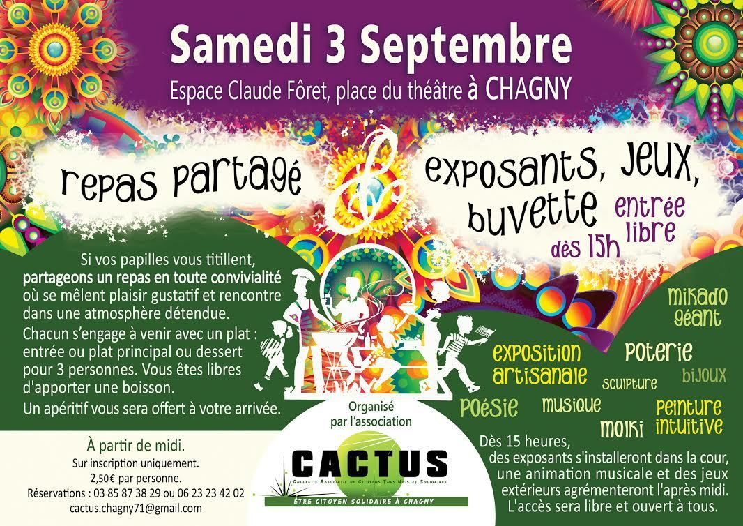 3 septembre 2016 - Association CACTUS à Chagny (71)