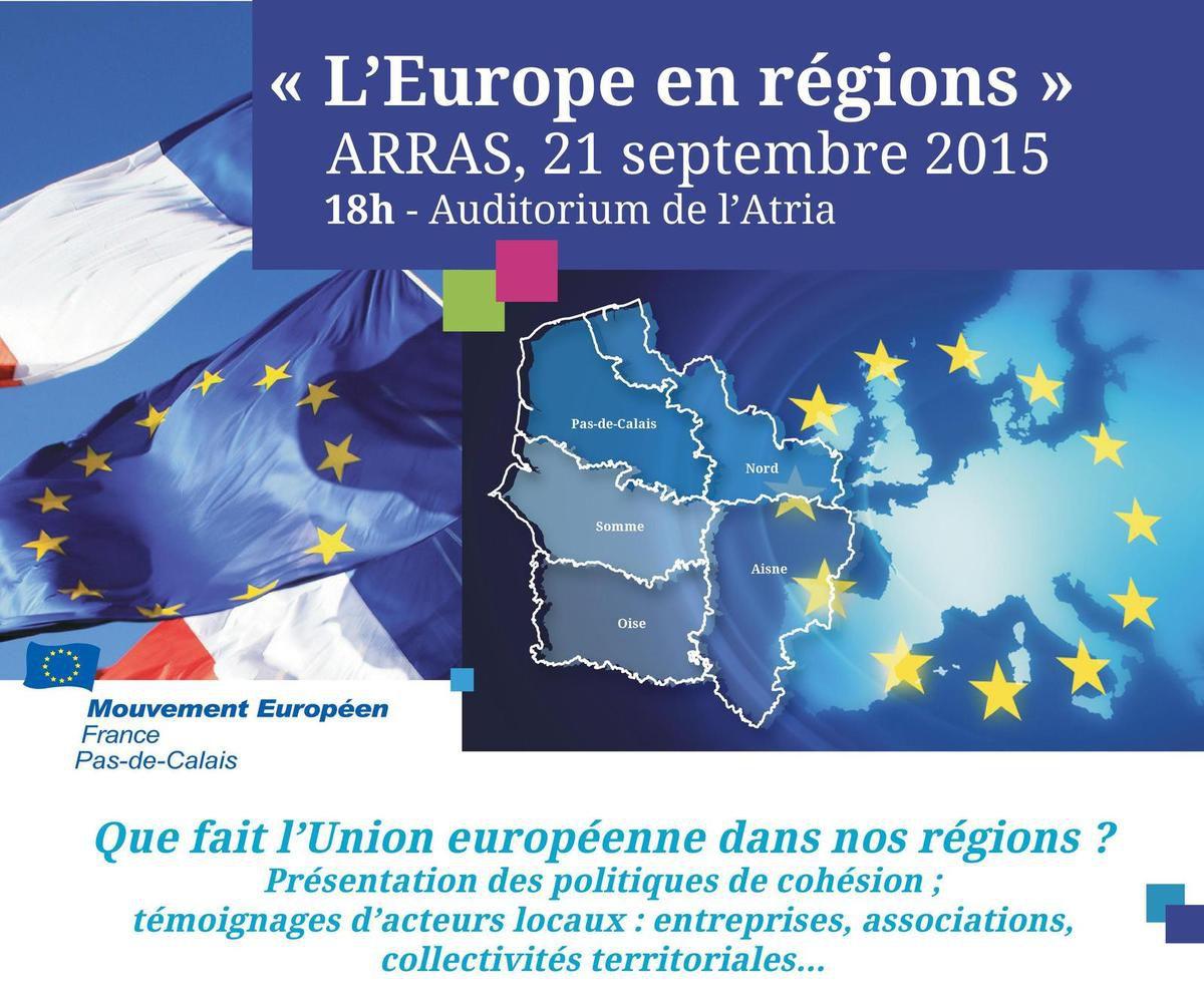 Le 21 septembre à Arras &quot&#x3B;L'Europe en régions&quot&#x3B;
