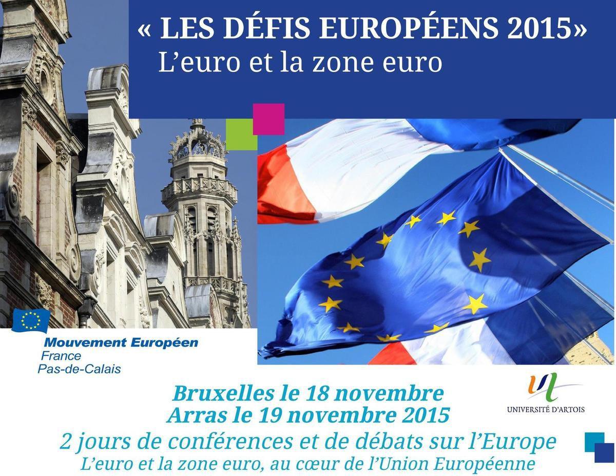 18 et 19 novembre Les défis européens 2015