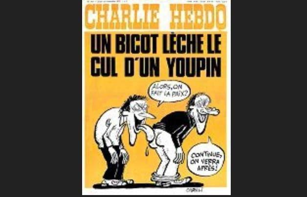 Voilà des superbes unes et images provenant du fameux journal Charlie Hebdo. Que c'est drôôle!!