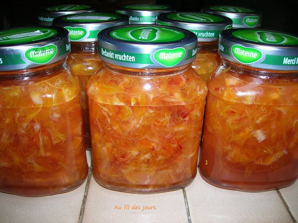 Confiture d'oranges sanguine.