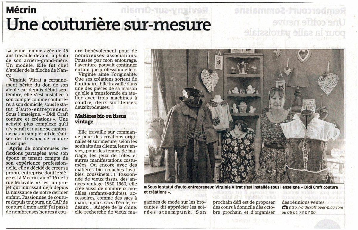 Article du journal.