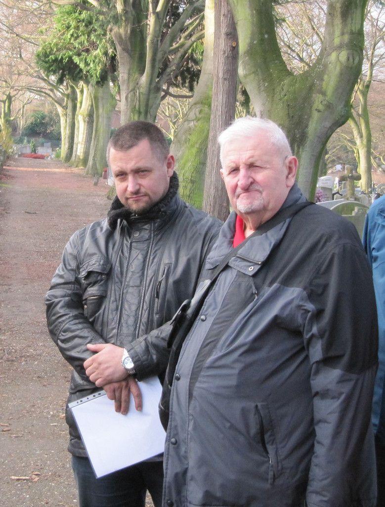 Marc et Mathieu Bodson, petit-fils et fils du filleul de Pitje.