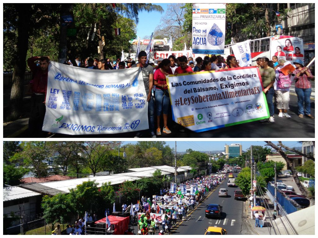 Marcha ambiental en San Salvador. 24 de febrero de 2015.