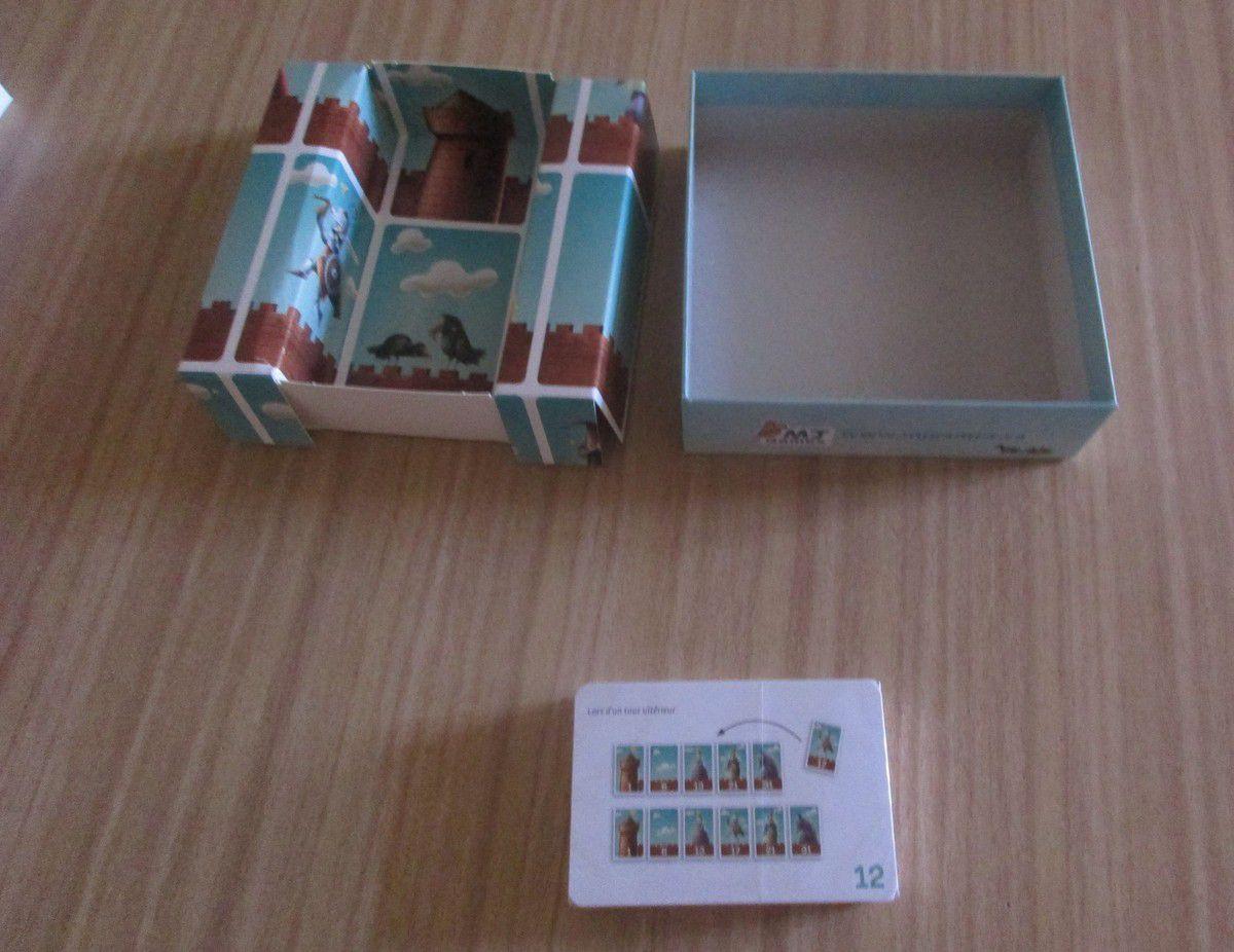 Le but du jeu est de réussir à réaliser un rempart de 10 cartes.
