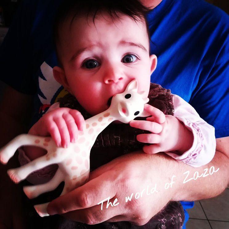 ma nièce Léna adore sa girafe