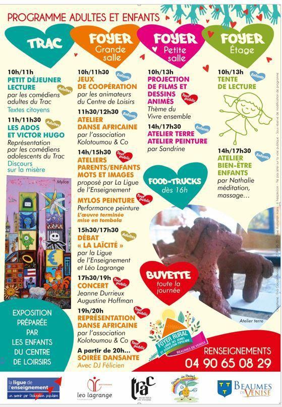 Participation du Trac à La Fête du Vivre Ensemble 1ère édition - Samedi 22 avril 2017 - à partir de 10 h - Beaumes de Venise.