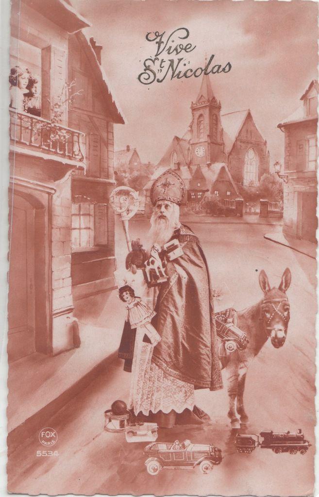 carte de saint nicolas début du XXème siècle, collection personnelle de l'auteur.