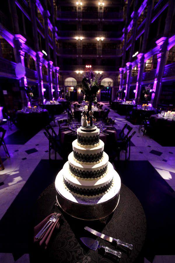 Luxury Purple Wedding Cake