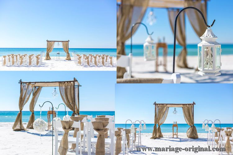decoration mariage la plage id es et d 39 inspiration sur le mariage. Black Bedroom Furniture Sets. Home Design Ideas