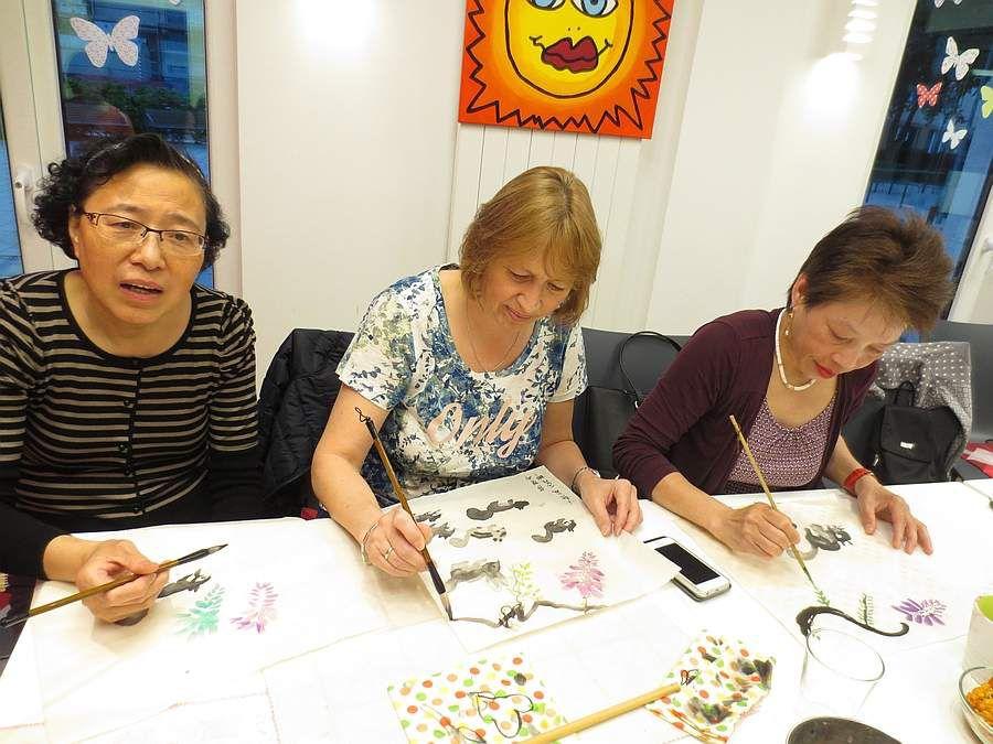Yunhong, Sabine und Tuyet