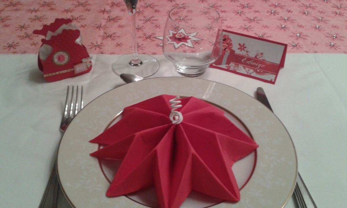 D co table no l rouge et blanc le blog de scrapdecoetcie - Deco table de noel blanc ...