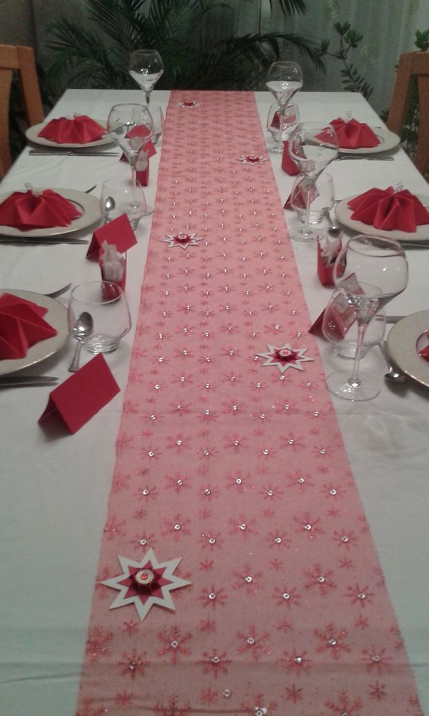 D co table no l rouge et blanc le blog de scrapdecoetcie - Deco table noel rouge et or ...