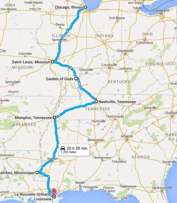 Programme Road Trip 2016 USA : De Chicago à New Orleans: Sur la route du Blues