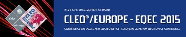 Plasmonics and Metamaterials at CLEO Europe EQEC Munich 2015