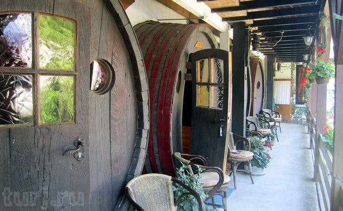 Dormir en un barril de vino