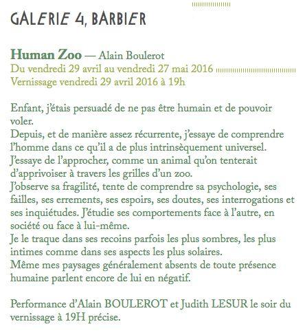 à la Galerie 4Barbier avec Alain Boulerot
