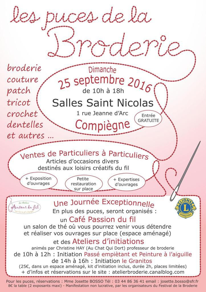 PUCES DE LA BRODERIE - SAVE THE DATE