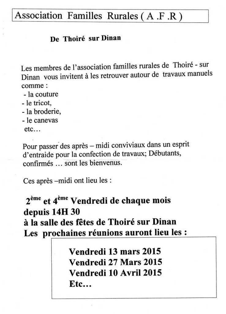 Info AMR Thoiré-sur-Dinan
