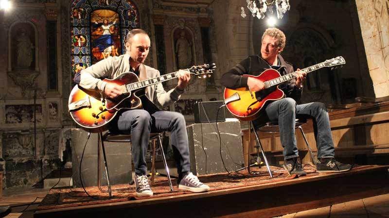 Rocky Gresset et Adrien Moignard deux guitaristes héritiers de Django Reinhardt