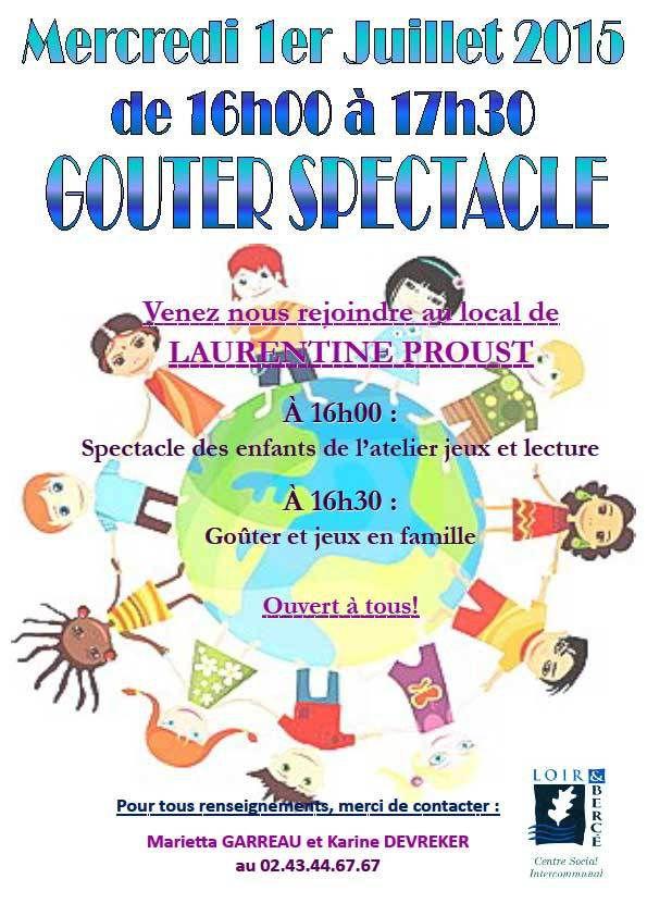 Gouter Spectacle à Laurentine Proust