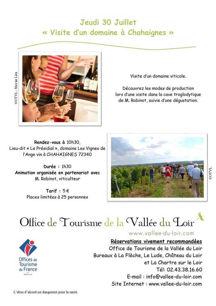 Animations de l'Office de Tourisme Vallée du Loir