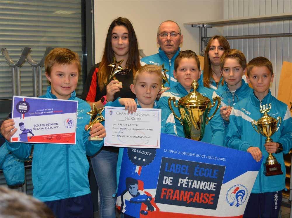 3ème étoile pour l'Ecole de pétanque de la Vallée du Loir