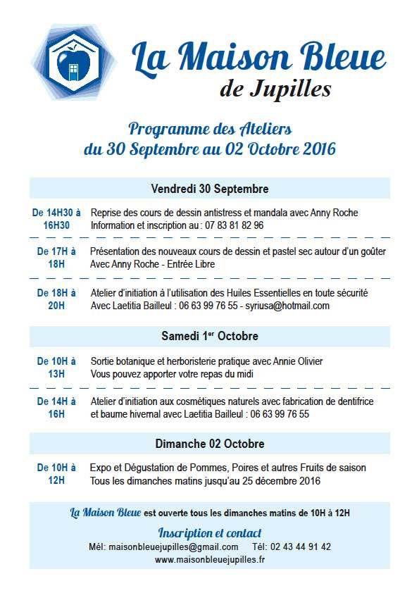 Programme &quot&#x3B;La Maison Bleue&quot&#x3B; à Jupilles