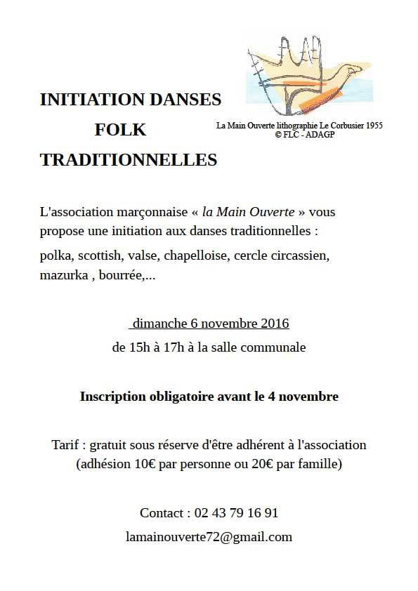 Initiation aux danses traditionnelles folk