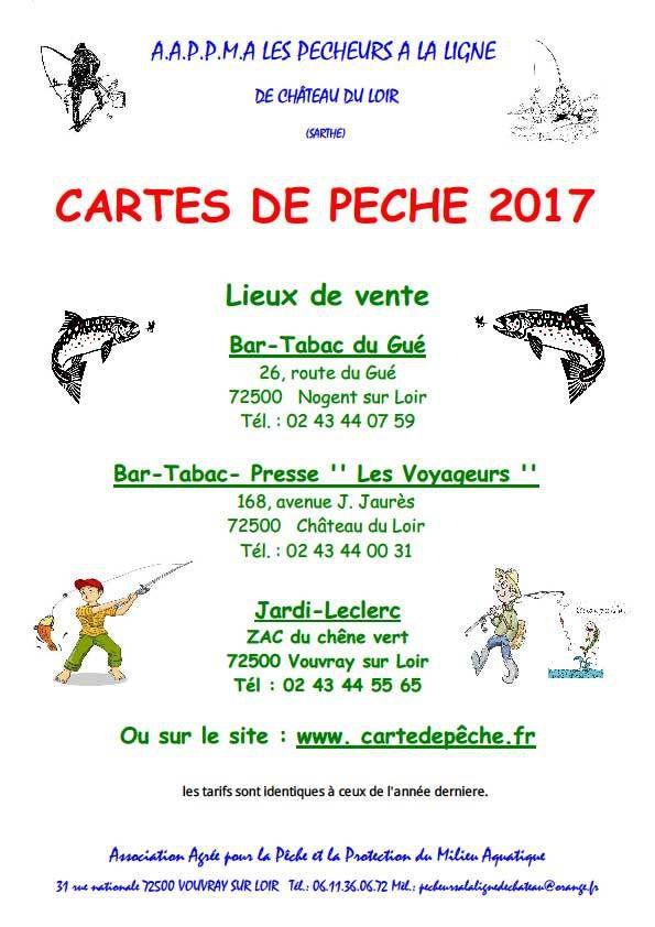 Carte de pêche 2017