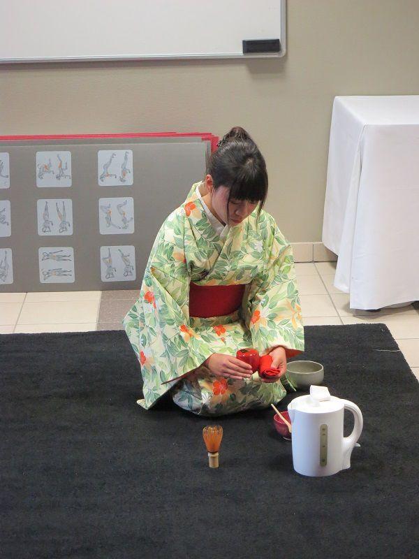 Cours de kimono et cérémonie du thé 3/10/15