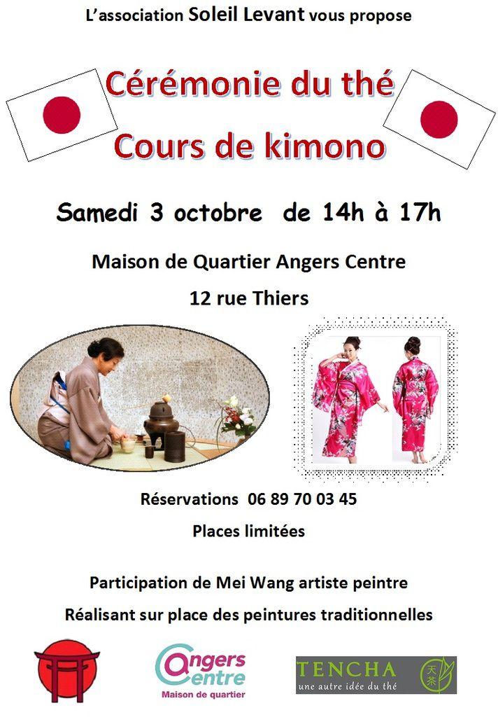 Cérémonie du thé et cours de kimono